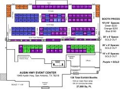 Floorplan for the Austin Highway Event Center
