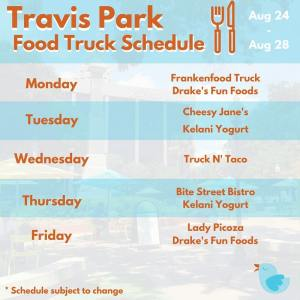 Get your unique lunch experience at Travis Park Aug. 24th - 28th 2015