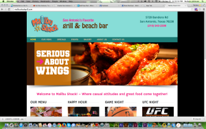 Malibu Bar And Grill Website
