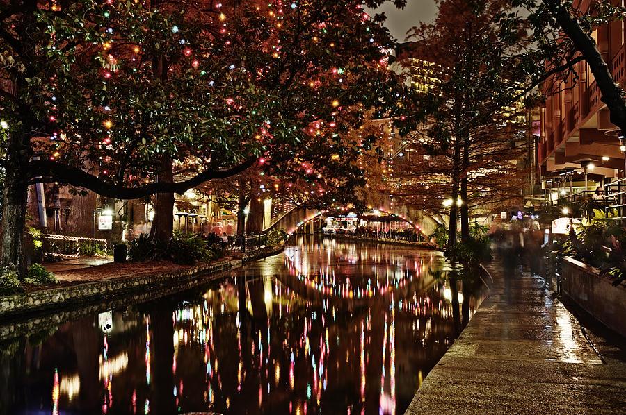 San Antonio Riverwalk Decorated With