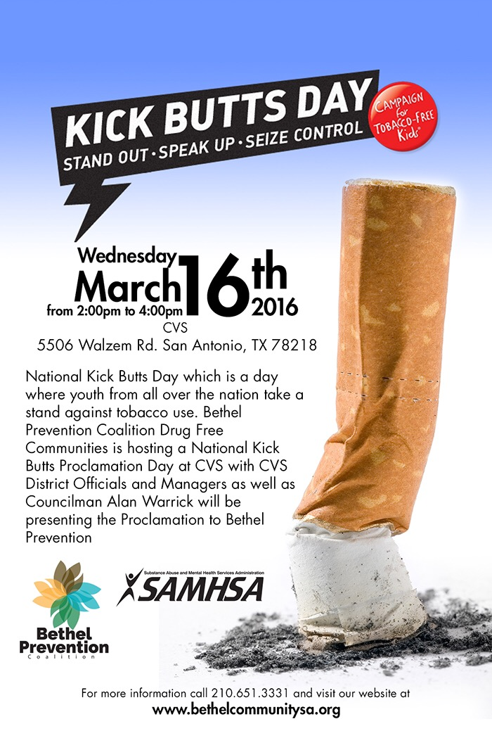 National Kick Butts Day Poster