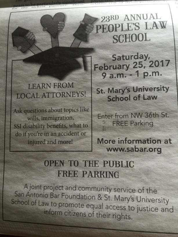 Free Law Advice in 2/25/17
