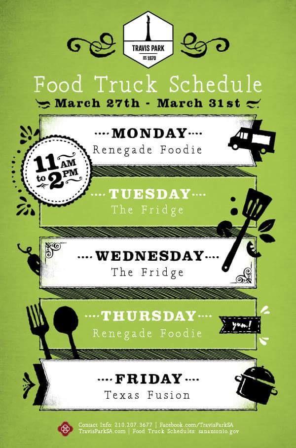 San Antonio Food Truck Calendar